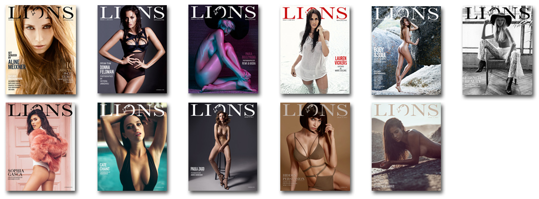 All Lions nude photography magazine issues