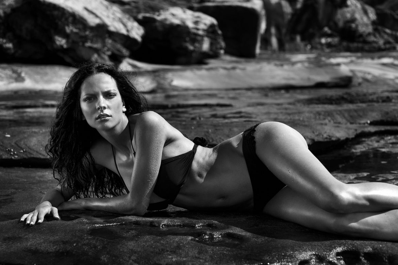 Black & White Rocks! Women  swimwear photographer lionsmag fashion editorial blackandwhite bikini beachwear   // lionsmag.com - premium nude photography magazine