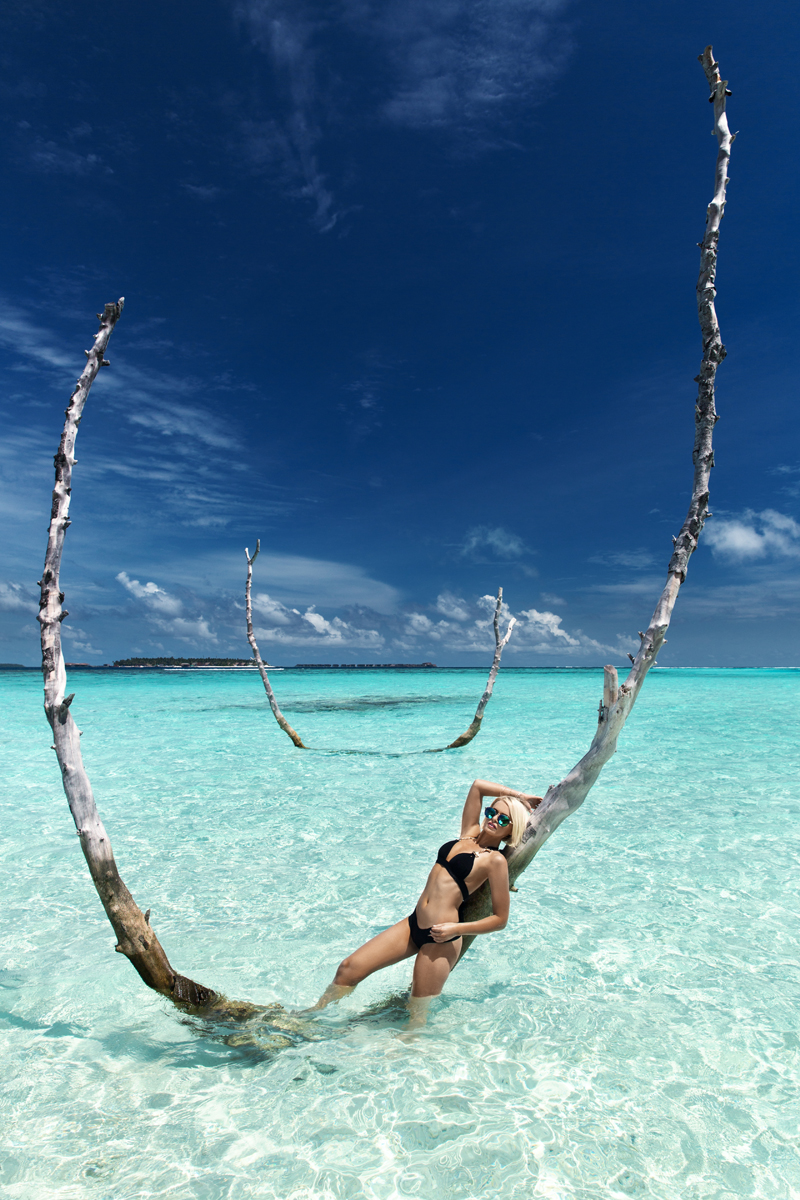 Carefree in Maldives Women  swimwear summer maledives girls fashion editorial body bikini beachwear beach babes   // lionsmag.com - premium nude photography magazine