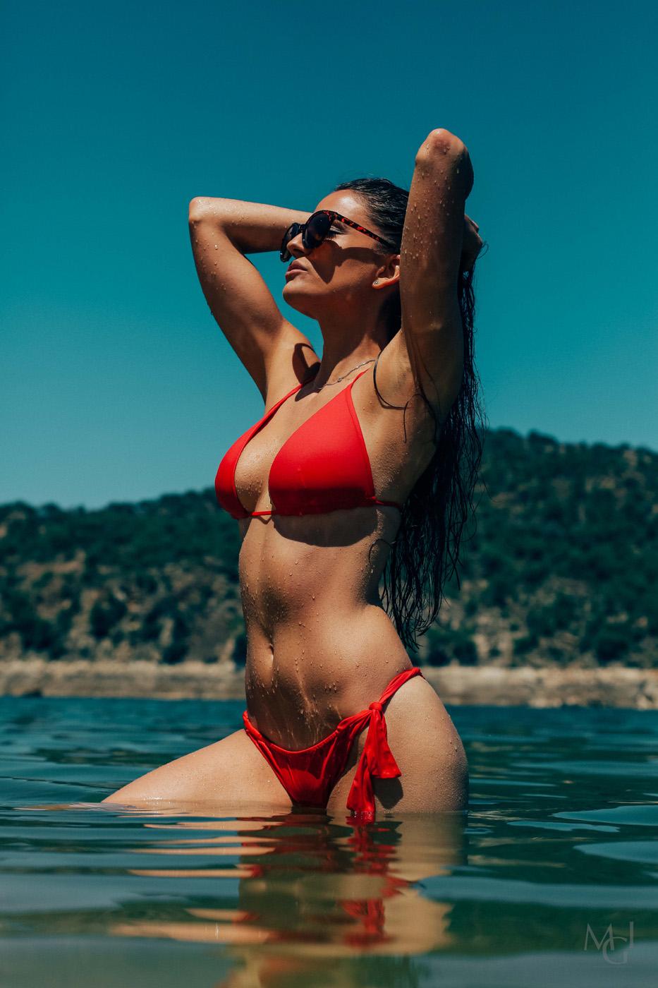 Red hot summer Women  Rocio Nieto photoshooting photoshoot photography photographer Michael Galvante Ibias MGIBIAS editorial body art bikini   // lionsmag.com - premium nude photography magazine