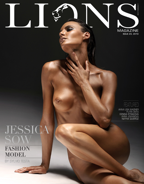 Lions art magazine issue 23. nude art photography magazine Jessica Sow